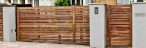 wooden gate design